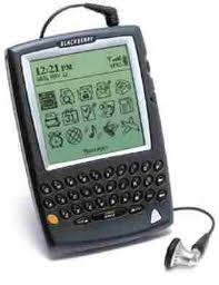 Blackberry con schermo bianco e nero