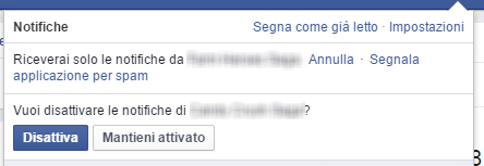 Come eliminare le notifiche facebook