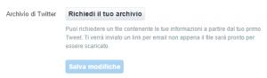 Archivio Tweet